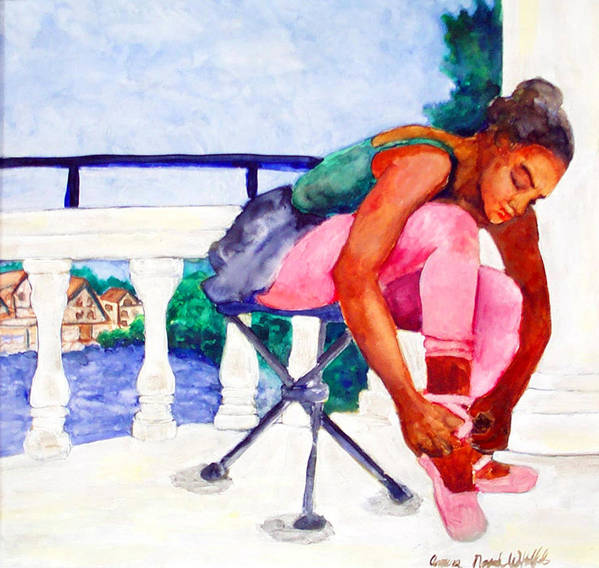 Poster featuring the painting Desperate For Dancing by Amira Najah Whitfield
