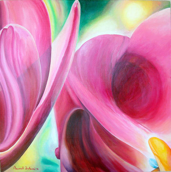Fleurs Poster featuring the painting Detail by Muriel Dolemieux