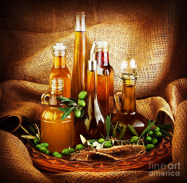 Still Life Poster featuring the photograph Different Salad Dressings by Anna Om