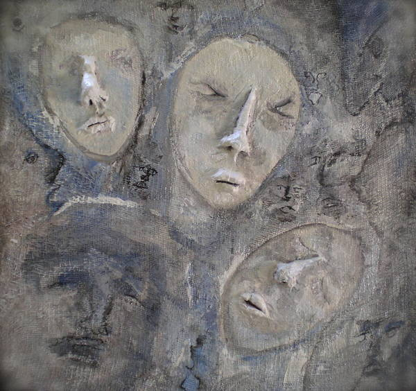Faces Poster featuring the painting Dissociative by Kime Einhorn