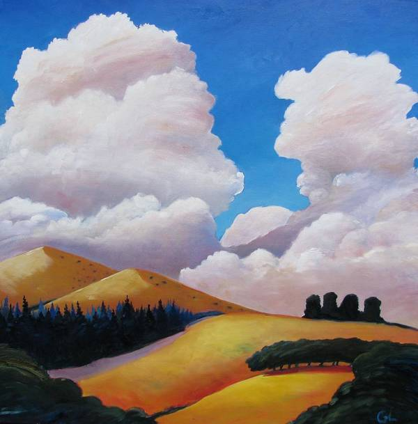 Clouds Poster featuring the painting Drama by Gary Coleman