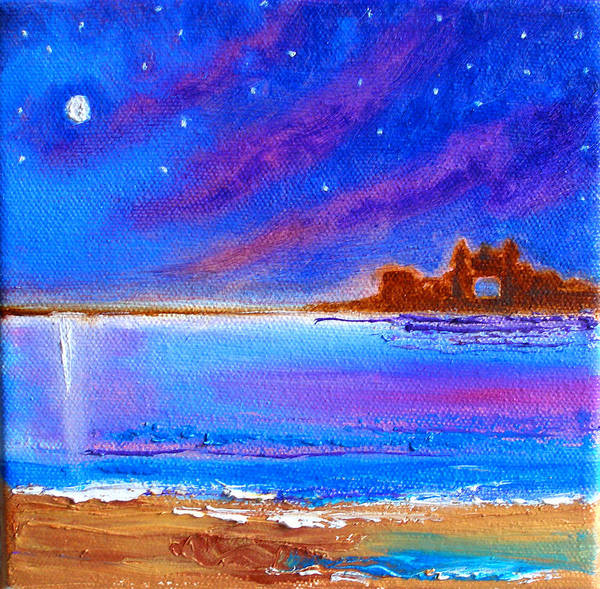 Poster featuring the painting Dreamscape Narragansett Kingdom By The Sea by Susi Franco