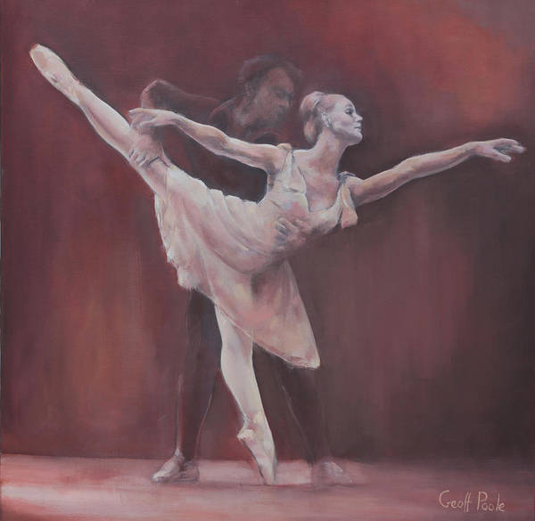 Dance Ballet Figurative Pointe Dancer Girl Dancer Dancers Poster featuring the painting Duet by Geoff Poole