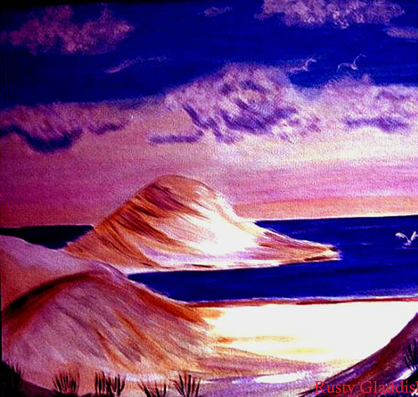 Sand Dunes Poster featuring the painting Dunes by Rusty Gladdish