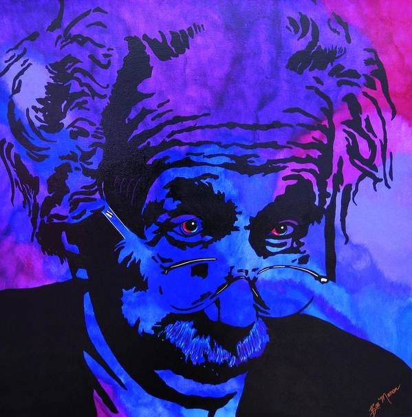 Einstein Paintings Poster featuring the painting Einstein-all Things Relative by Bill Manson