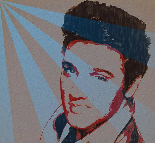 Elvis Pop Art Poster Poster featuring the painting Elvis Pop Art Poster by Dan Sproul