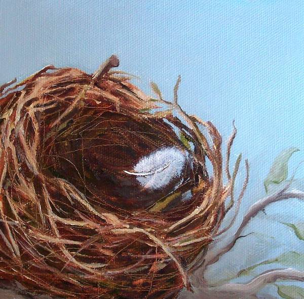 Empty Bird Nest Poster featuring the painting Empty Nest by Irene Corey