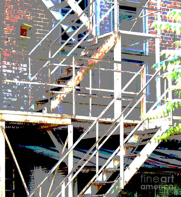 Stairs Poster featuring the photograph Escape 1 by Gary Everson