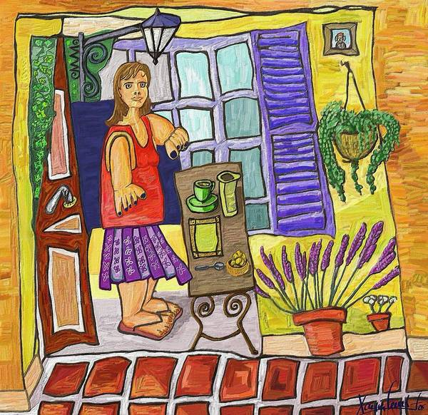 Still Life Poster featuring the painting Esmorzant En Provence by Xavier Ferrer