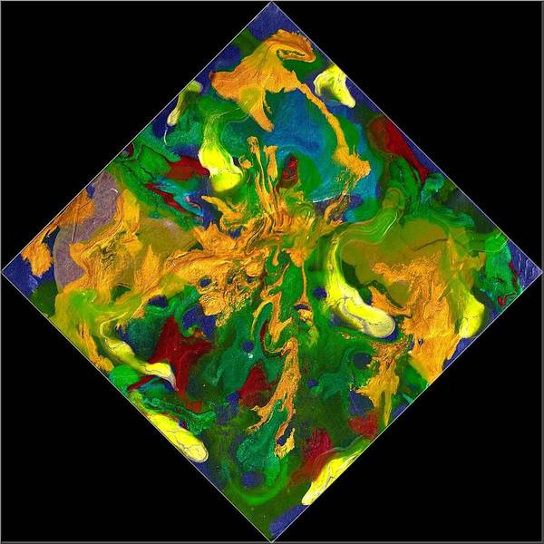 Abstract Poster featuring the painting Evolution Series 1008 by Dina Sierra