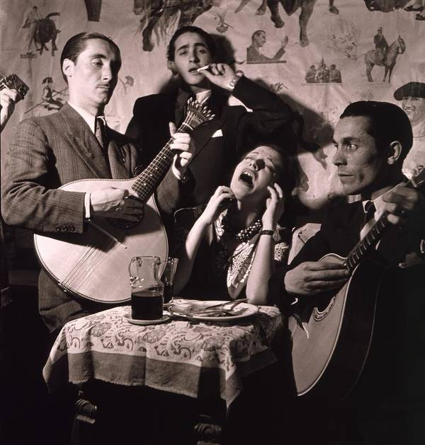 History Poster featuring the photograph Fado Singer In Portuguese Night Club by Everett