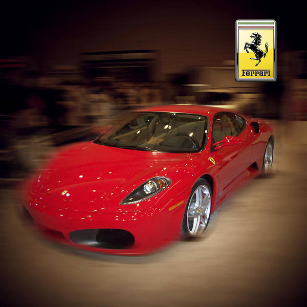 �auto Corner� Collection By Serge Averbukh Poster featuring the photograph Ferrari F430 - The Red Beast by Serge Averbukh