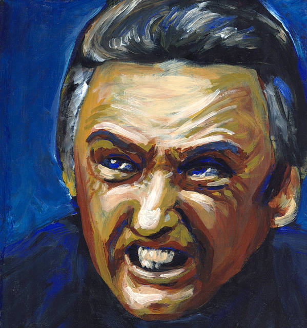 Dennis Hopper Poster featuring the painting Frank Booth by Buffalo Bonker