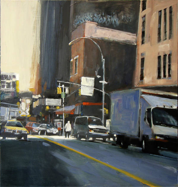 New York City Poster featuring the painting Gallery District by Patti Mollica