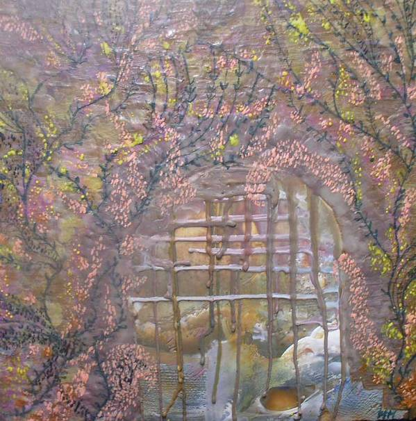 Encaustic Poster featuring the painting Gateway To Positive Change by Heather Hennick