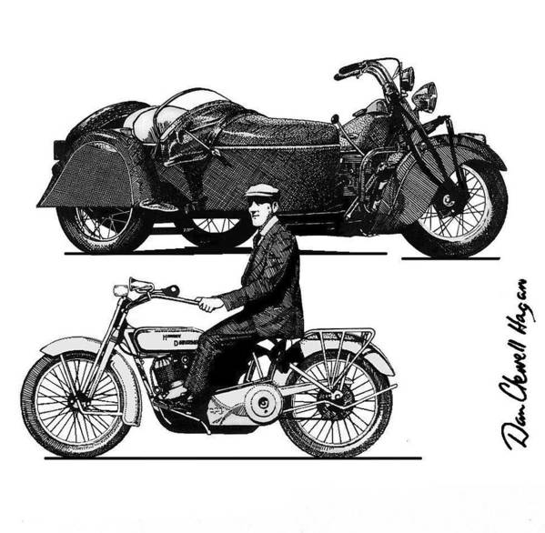Pen And Ink Poster featuring the drawing H. D. by Dan Clewell