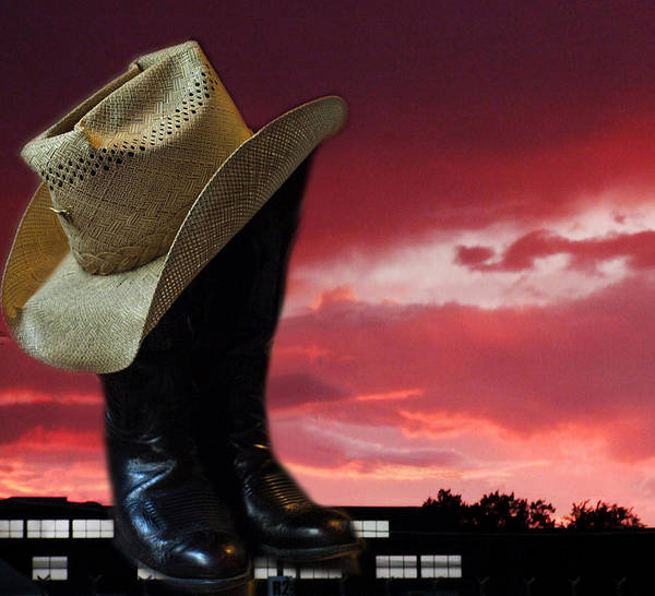 West Poster featuring the photograph Hat N Boots 11 by Chuck Shafer