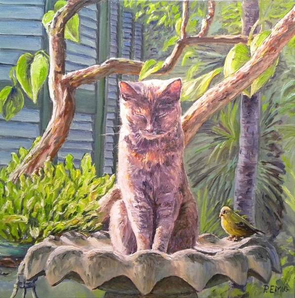 Cat Poster featuring the painting Hemingway Cat by Paul Emig