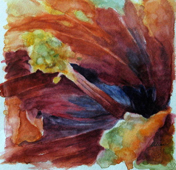 Floral Poster featuring the painting Hibiscus by Stephanie Allison