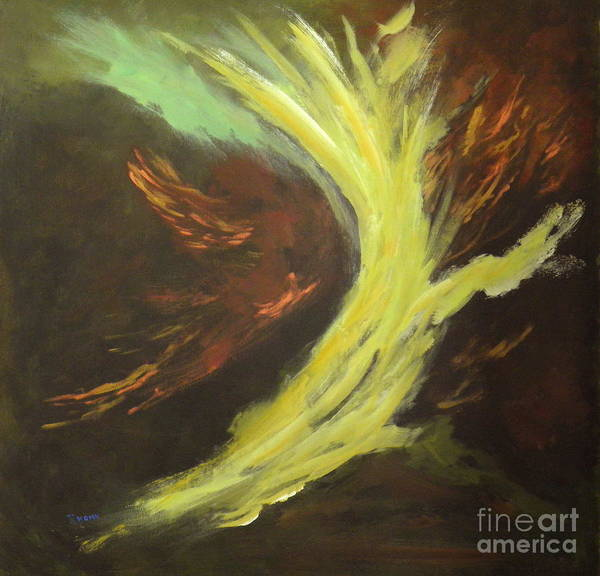 Abstract Poster featuring the painting His Almighty Power by Rhonda Myers