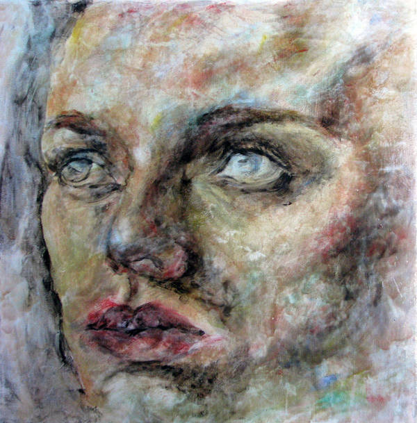 Portrait Poster featuring the painting Hope by Iglika Milcheva-Godfrey