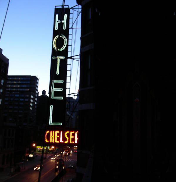 Ny Poster featuring the photograph Hotel Chelsea by Xavier Wasp