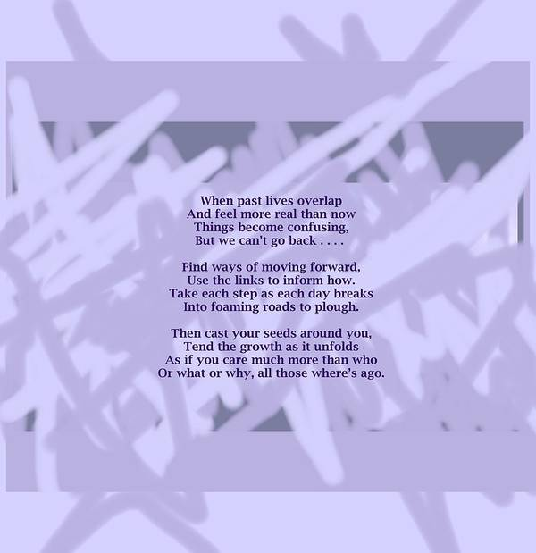 Poem Poster featuring the mixed media How Now Poem by Julia Woodman