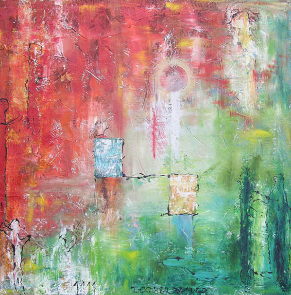 Abstract Painting Poster featuring the painting Illumination by Frederic Payet