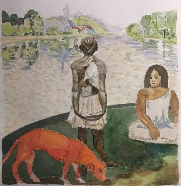 Impressionism Poster featuring the painting Impressed by Yonger Xie