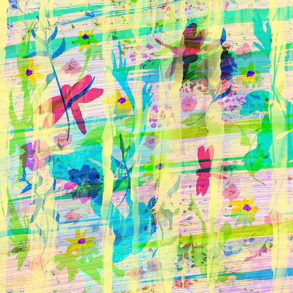 Abstract Poster featuring the digital art In the Garden by William Russell Nowicki
