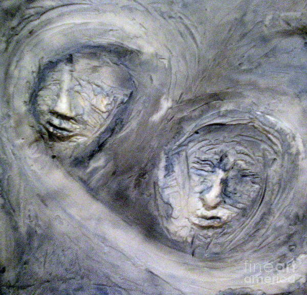 Portraits Poster featuring the painting In The Ice Storm by Kime Einhorn