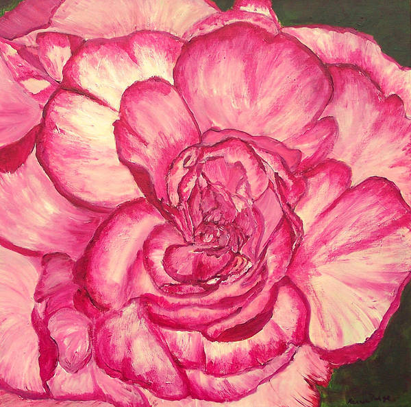 Flower Poster featuring the painting In The Pink by Marcia Paige