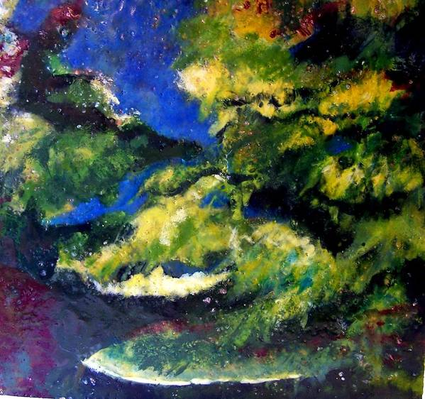 Landscape Poster featuring the painting In The Spaces by Karla Phlypo-Price