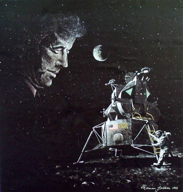 Space Poster featuring the painting In This Decade by Norman F Jackson