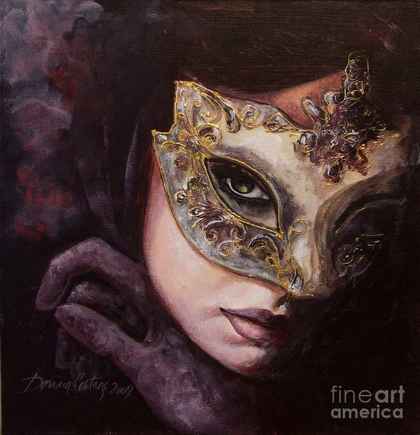 Art Poster featuring the painting Ingredient Of Mystery by Dorina Costras