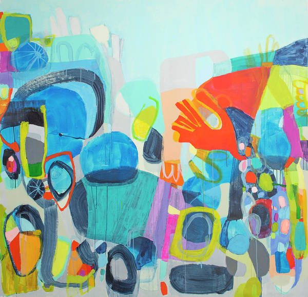 Abstract Poster featuring the painting Insatiable by Claire Desjardins