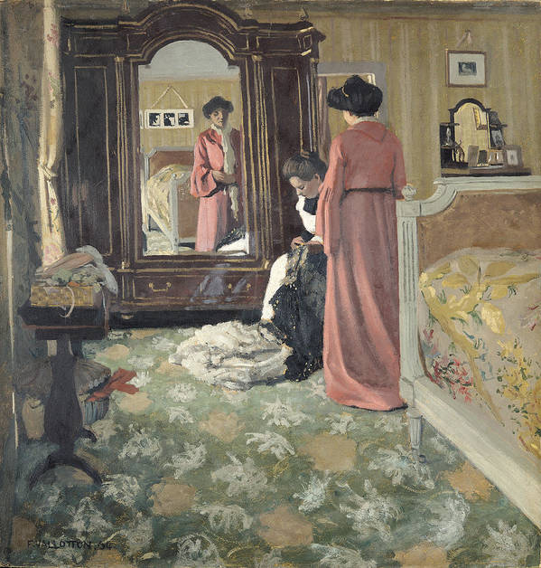 Interior Poster featuring the painting Interior by Felix Edouard Vallotton