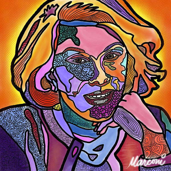 Joan Rivers Poster featuring the digital art Joan Rivers Never a Fashole by Marconi Calindas