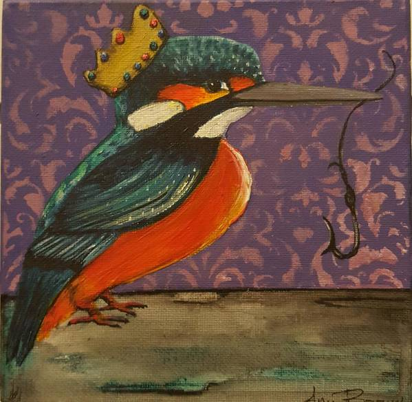 King Kingfisher Poster featuring the painting King Of Kingfishers by Ami Brown