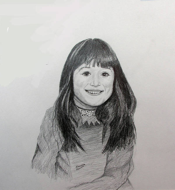 Pencil Portrait Poster featuring the drawing Kira by Stan Hamilton