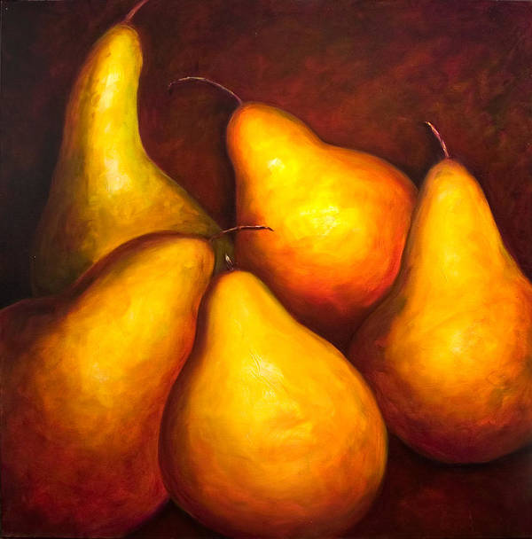 Still Life Yellow Poster featuring the painting La Familia by Shannon Grissom