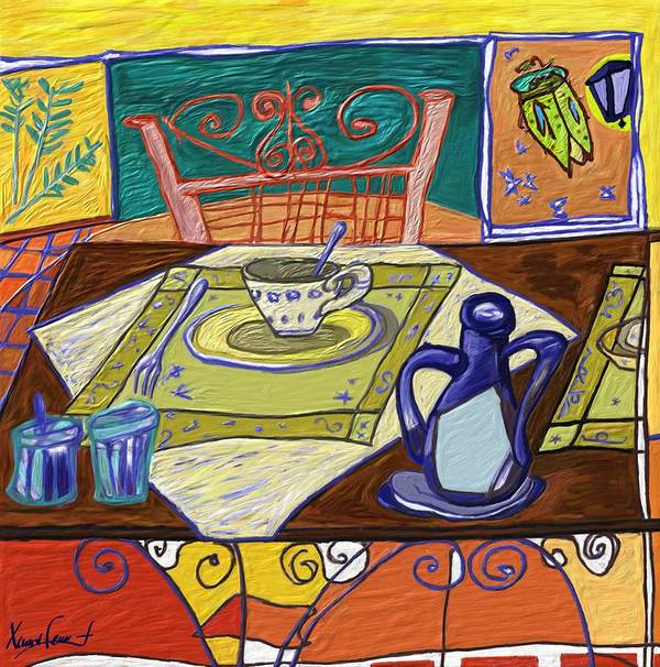 Still Life Poster featuring the painting La taula by Xavier Ferrer