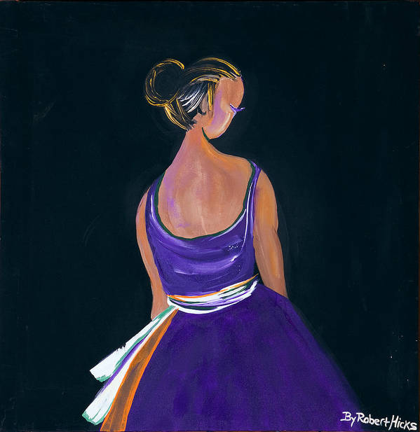 Ballerina Poster featuring the painting Lady In Purple by Robert Lee Hicks