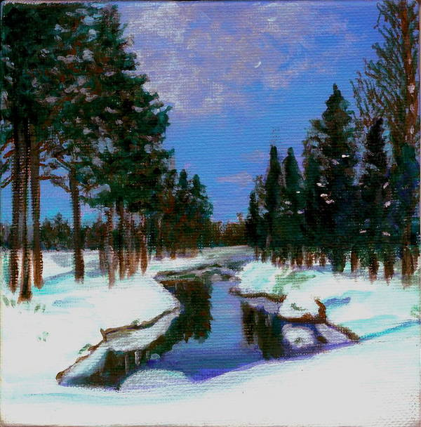 Snow Poster featuring the painting Lapland by Marina Owens