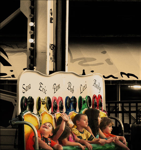 Carnival Rides Poster featuring the photograph Leapfrog by Colleen Kammerer