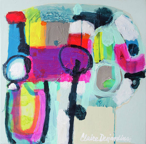 Abstract Poster featuring the painting Learner's Permit by Claire Desjardins