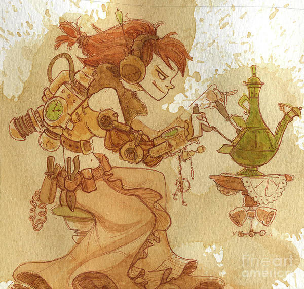 Steampunk Poster featuring the painting Lemongrass by Brian Kesinger