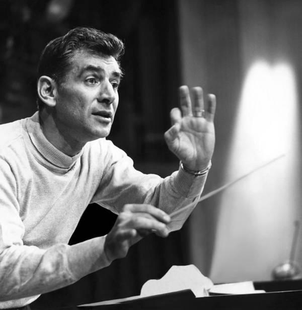 1960s Candids Poster featuring the photograph Leonard Bernstein, 1960 by Everett