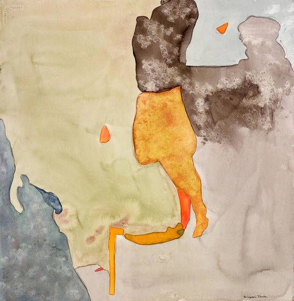 Abstract Poster featuring the painting Les Demoiselles Of Santa Cruz V7 by Susan Cafarelli Burke