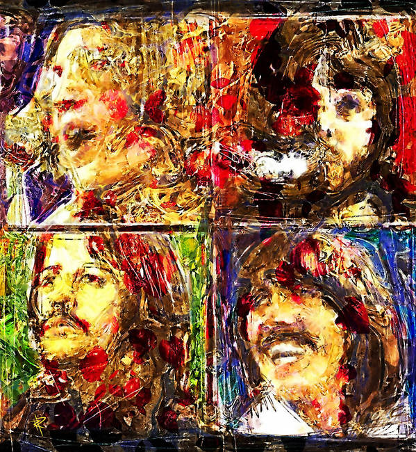 The Beatles Poster featuring the digital art Let it Be by Russell Pierce